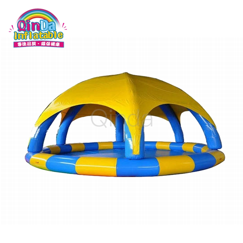 5m Diameter Outdoor Intex Blow Up Inflatable Swimming Pool With Cover For Kids 6 5ft diameter inflatable beach ball helium balloon for advertisement