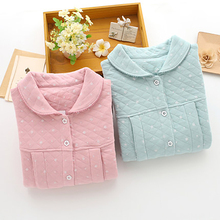Maternity Pregnant Clothing Long Sleeve Nursing Clothes For Pregnant Women Thick Warm Cotton Maternity Nightgown Nursing 60M0060