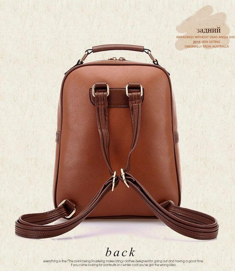 08ea9af64ded ICeinnight Высокое качество кожа PU рюкзак школьные сумки для ...