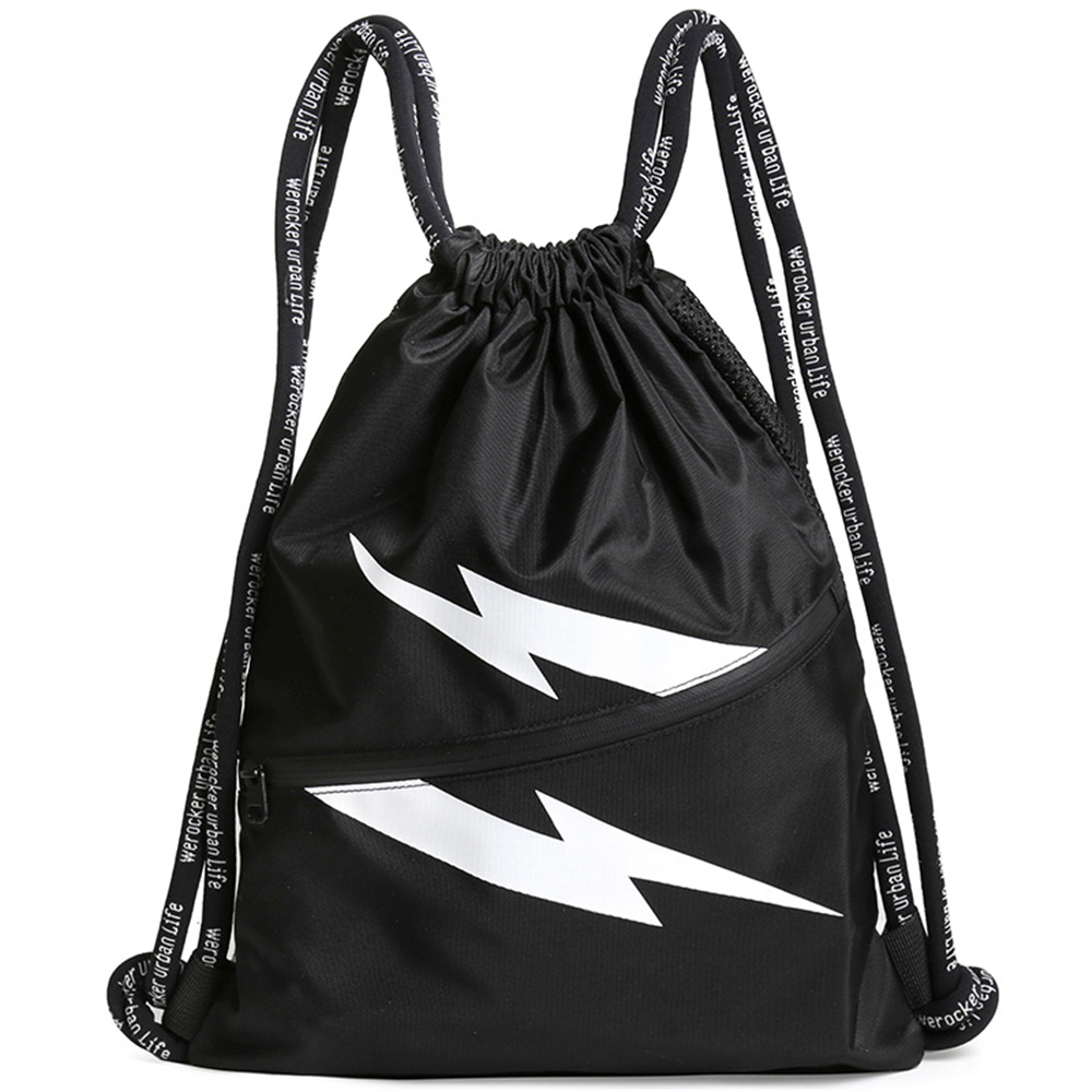 Beam Mouth Lightning Backpack Sports Rucksack Mens Fitness Training bag Drawstring Outdoor