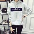 2017 de La Moda de Invierno Harajuku Sudaderas Con Capucha Mujeres Pullover Loose Letras Impresas Sudadera Femenina Ladies Chándal Moletom