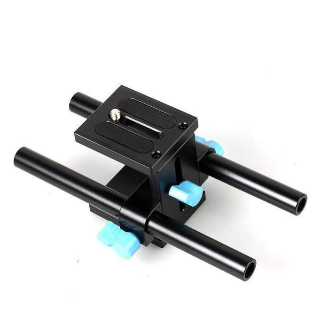 Sonovel คุณภาพสูง 15mm Rail Rod Support System Baseplate Mount สำหรับ Canon DSLR Follow Focus RIG 5D2 5D 5D3 7D