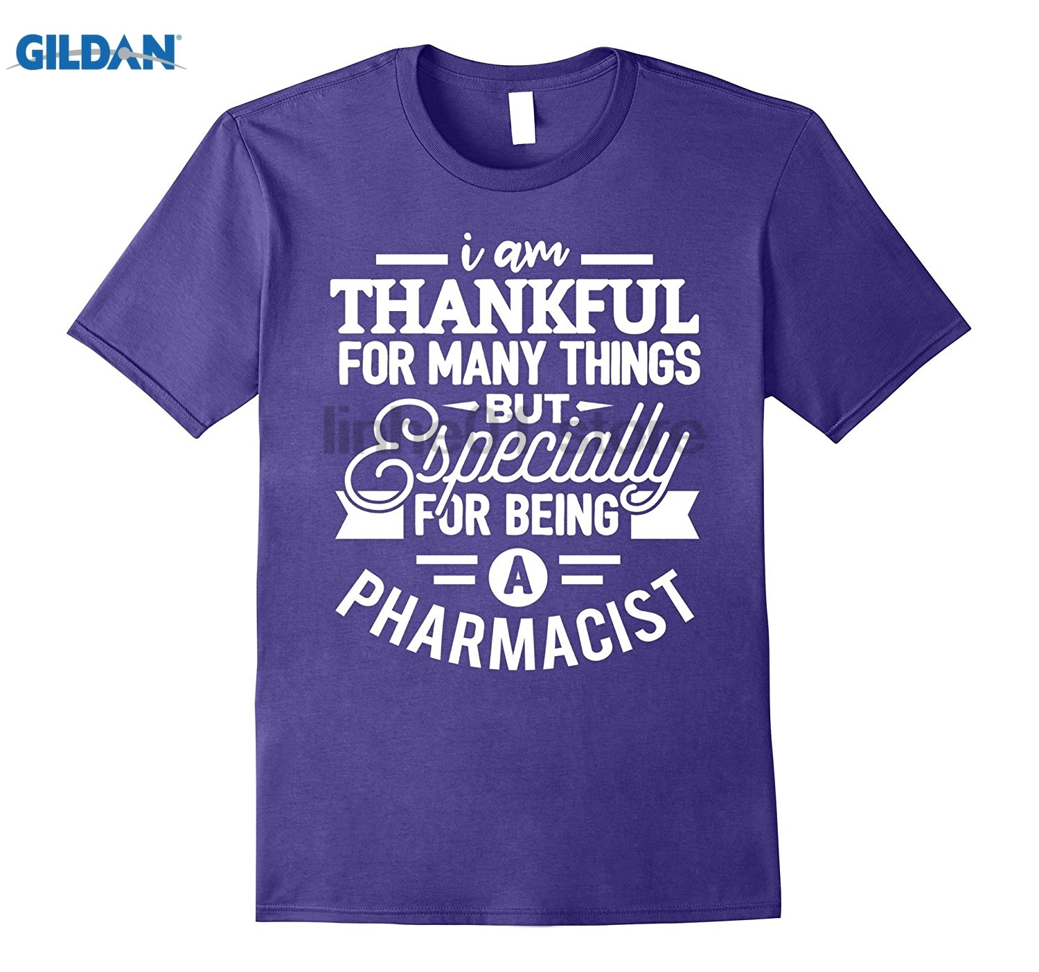 GILDAN Pharmacist Shirt I am Thankful Pharmacy Gift T-Shirt glasses Womens T-shirt ...