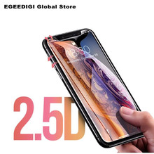 EGEEDIGI Tempered glass For iphone X XS Max XR 8 7 6 6s Plus Full Cover Screen protector film Protective Curved 9H 5D Glass