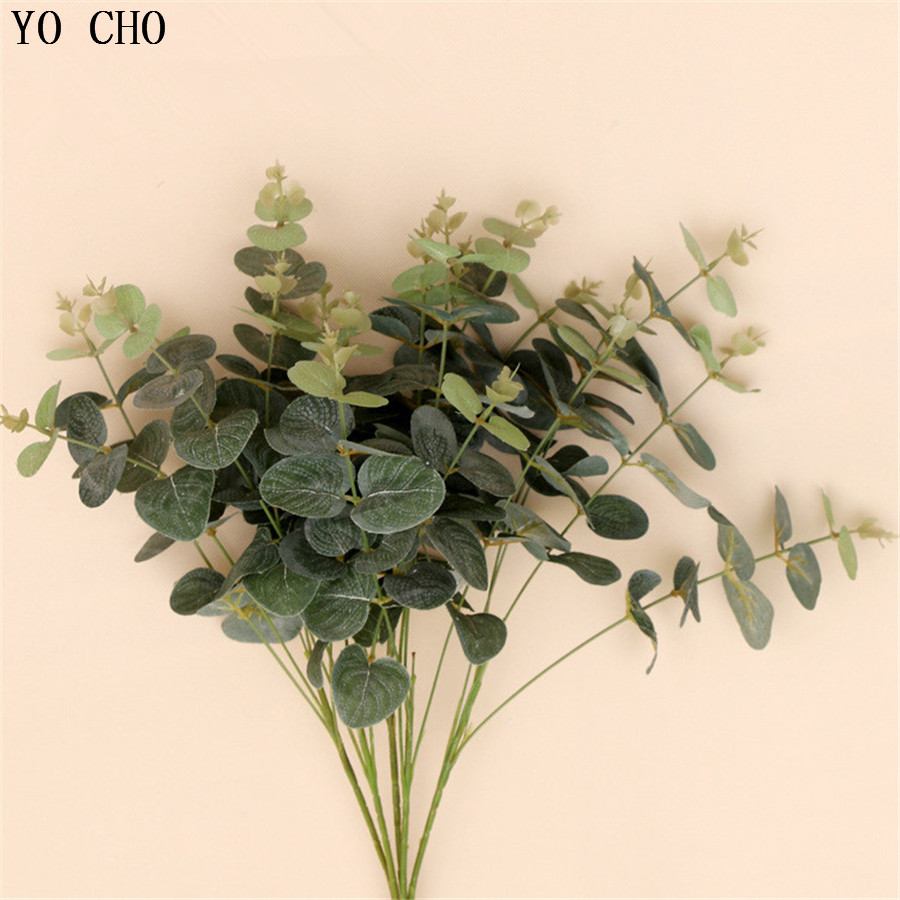 artificial plants bouquet green fake plants plastic real touch leafe Silk Fake Plants