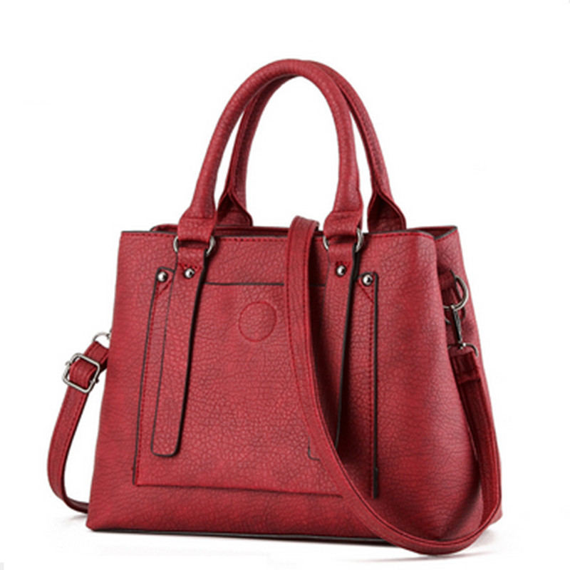 New Fashion Women PU Leather Shoulder Bag Lady Handbags Totes Large Crooss Body Bags for Women