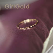 14k Solid Gold Ring,thin Ring, Stacking Ring, Dainty Gold Ring, Minimalist, Mid century Bff Bride