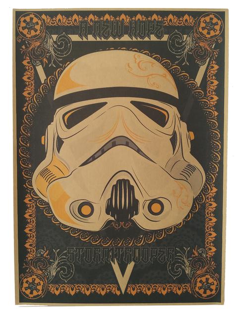 vintage poster Star wars movie retro poster kraft paper wall sticker Bar Cafe living room