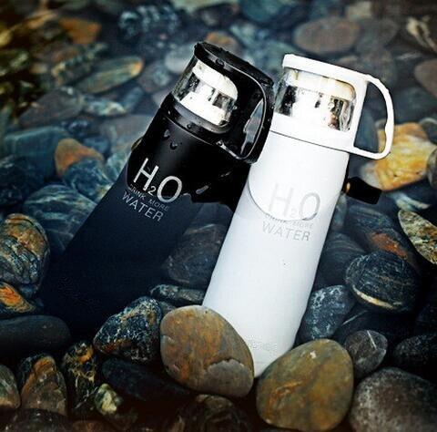 Мода H2O Высокое Качество Нержавеющей Стали Термос С Кофе Чашки Кружки Тепловой Бутылка Thermocup 500 мл
