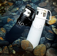 Модные H2O высокое качество Нержавеющая сталь Кофе термос Чашки Кружки Термальность бутылки thermocup 500 мл