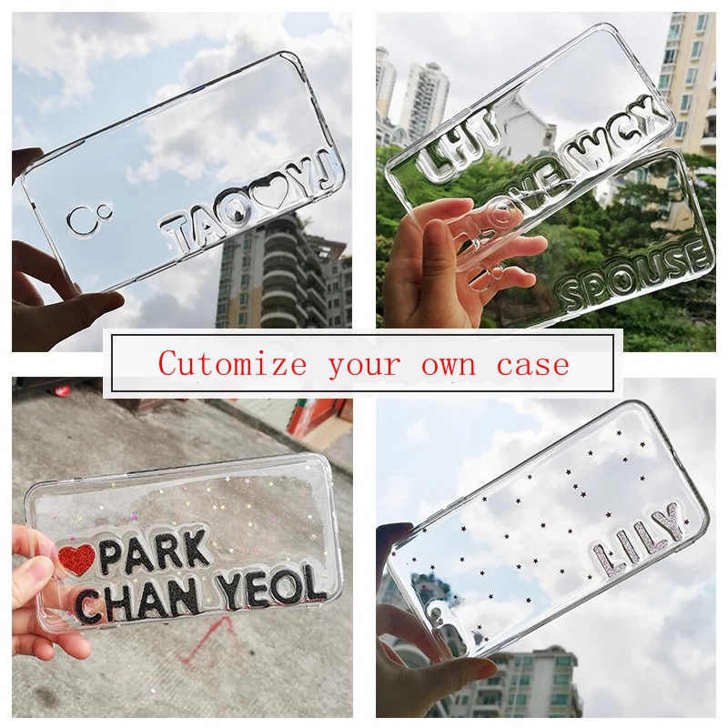 for Iphone 5 5S SE 6 6S 7 PLUS Cute Exclusive Customize Name Letter Lovers Personal