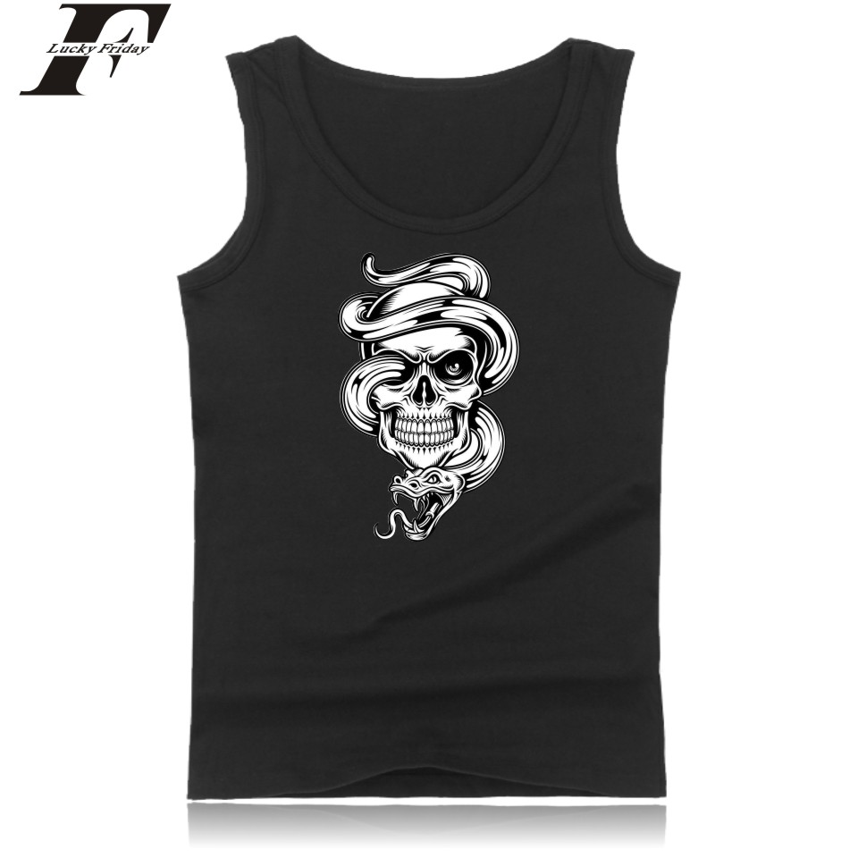 Fashion Pirates Summer Sleeveless Mens Bodybuilding Tank Tops Casual High Quality Black Tank Top Men Funny Skeleton Black Vest