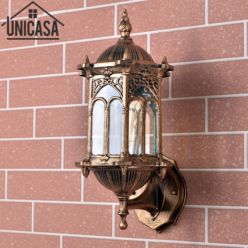Antique Outdoor Wall Lights Garden Vintage Lamps Pathway Bar Wall Sconce Bronze Aluminum Industrial Lighting LED Lamp