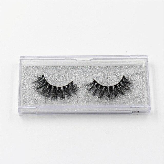 LEHUAMAO 3D Mink Eyelash Fluffy Cross Thick Natural Fake Eyelashes Lashes Dramatic Makeup Eye Lashes Handmade False Eyelash 3