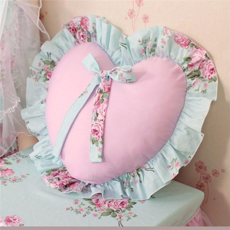 Lace Rustic Elegant ruffle flower cushion princess sofa/bed pillows home textile wedding decoration lumbar pillow car hand rests