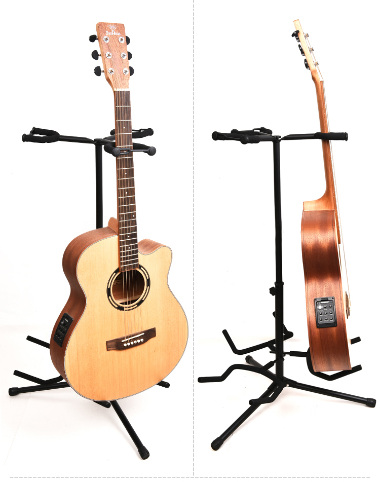 3 in 1 Standing Head Holder Folding Stand for Acoustic Electric Guitar standing in for lincoln green