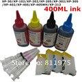 T1811refillable cartucho de tinta para epson xp-30/xp-102/xp-202/xp-205/xp-302/xp-305/xp-402/xp-405/xp-212 + para epson tinta dey 400 ml