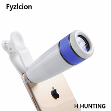 Cheap price Optical Camera Lens Telescope 8x Zoom Telephoto in White-blue Clip-on for iPhone 6 6 Plus 5S Watching Hunting