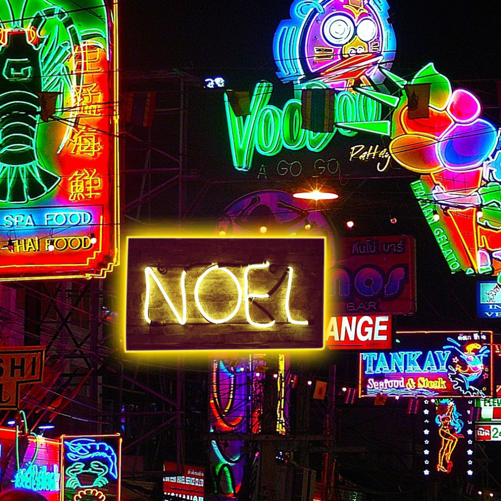 Neon Sign Light NOEL Alphabet Shape Design Room Wall