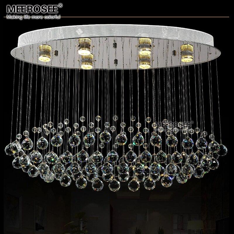 Топ K9 хрустальная люстра современный роскошный прозрачный кристалл приспособление освещения GU10flush установлены лампы для гостиничного про