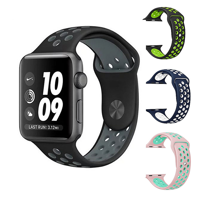 ONEVAN Colorful Silicone Strap For Apple Watch Band Series 4/3/2 44mm 42mm 40mm 38mm Sport Bracelet Strap For IwatchBand