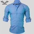 Camisa de los hombres 2016 Nueva Primavera Otoño Vestido Delgado Ocasional de la Marca de Negocios de Color Sólido Ropa Camisa Sociales Macsulina Camisas de Los Hombres N350