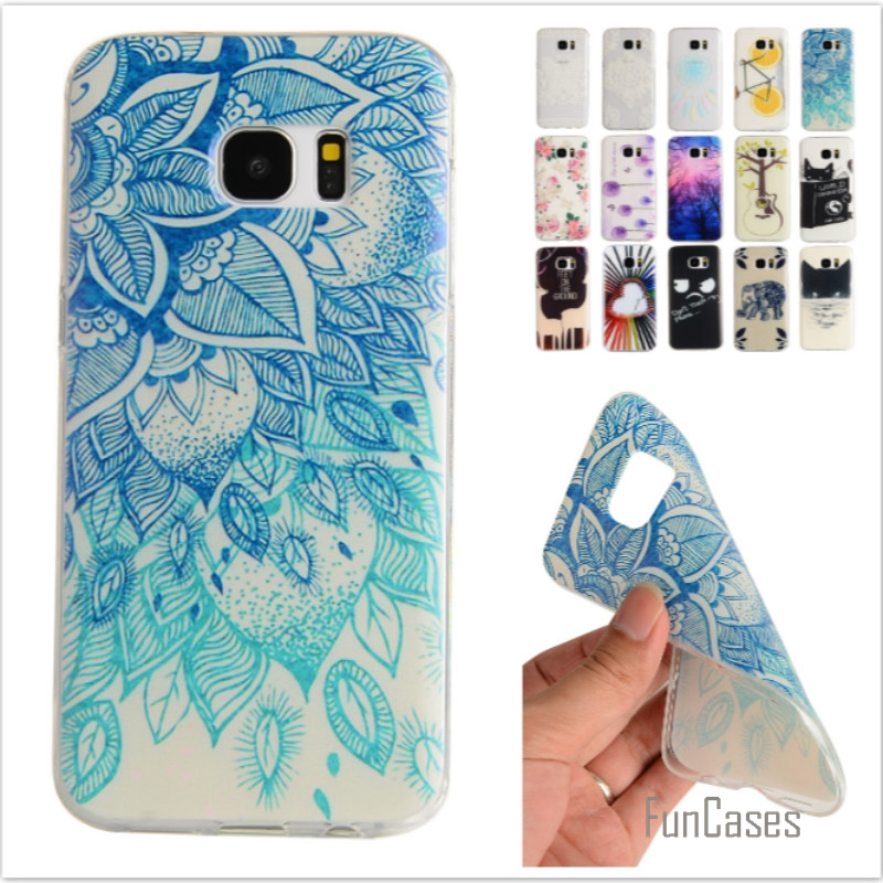 Cartoon Lemon Bike Tree painted Rubber Back Cover Silicon Gel Soft TPU mobile phone case For Samsung Galaxy S7 G9300
