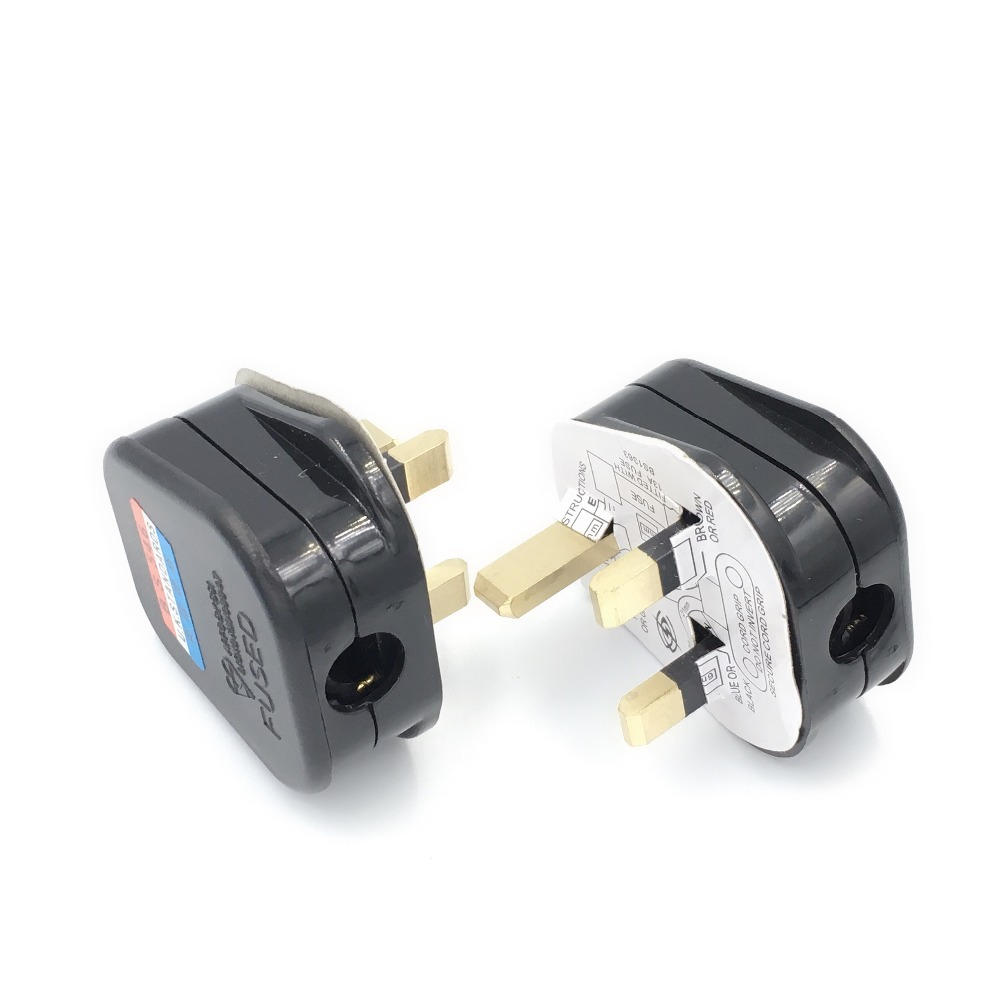 White x 20 13A Mains Plug 13 AMP 3 Pin Electrical Appliance Fuse Plug Top UK BS1363