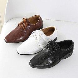 2019 новые детские Свадебные модельные туфли из натуральной кожи для мальчиков, брендовые Детские черные свадебные туфли, официальные кроссо...