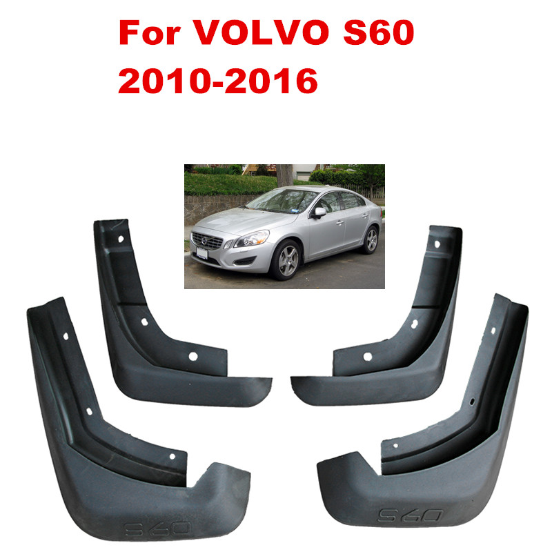 Car Mudflaps Splash Guards Mud Flap Mudguards Fender For VOLVO S60 2010 2016 Car Styling Accessories