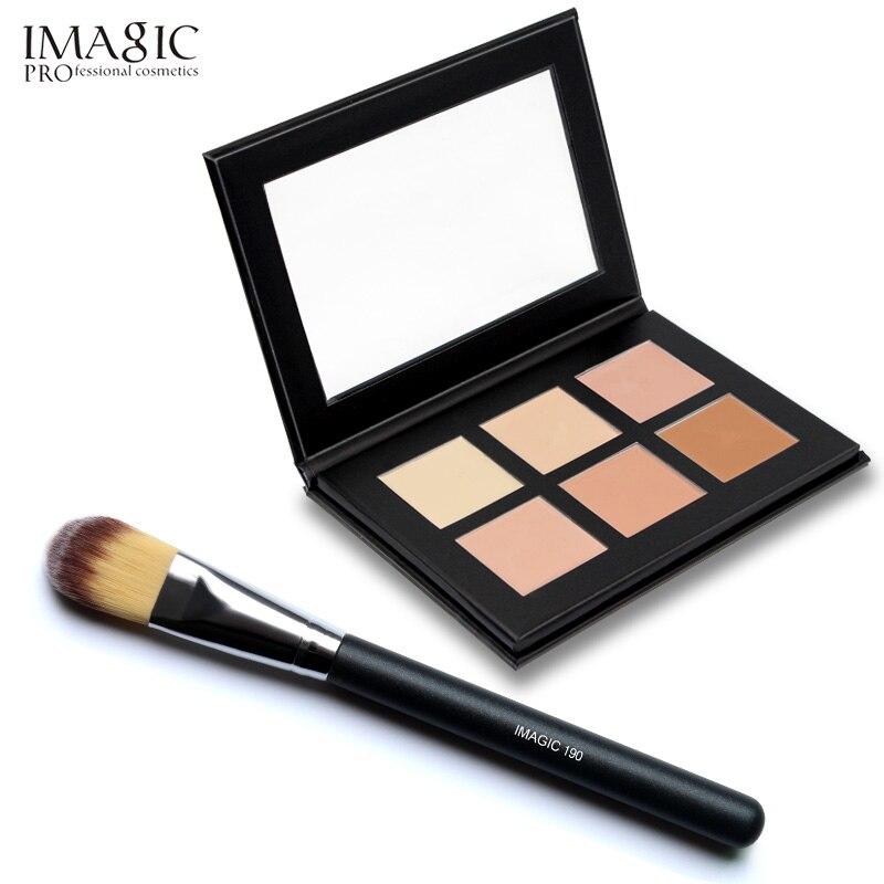 IMAGIC 6 Colors Contour Palette Concealer Makeup Party Contour Palette With Make-up Brushes Maquiagem Face Cream Palette 15 colors makeup concealer brush cream palette