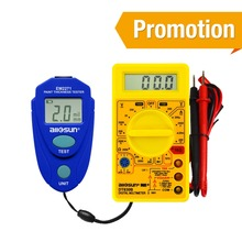 all-sun EM2271 Digital Coating Thickness Car Painting Meter paint thickness meter +Digital Multimeter DT830B