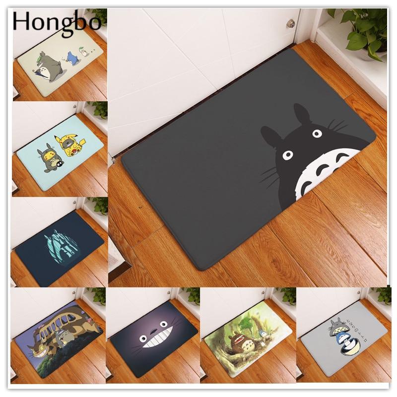 Hongbo Cartoon Totoro Mat Chinchillas Cat Animal Fashion Rectangular Mats Entrance Doormats Washable Kitchen Floor Bathroom