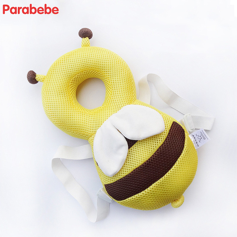 3D material polyester breathable baby pillow for baby room cool baby head protection pad bee design comfort kids pillow cushion