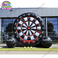 12ft Height Inflatable Dart Board, Inflatable Soccer Dart Games For Sale