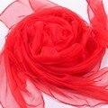 Venda quente Clássico Faux Seda Verão das Mulheres Chiffon Cachecol Xale Cachecóis Novidade vermelho Mujer Bufanda Chal Tamanho 140x170 cm WS016-A