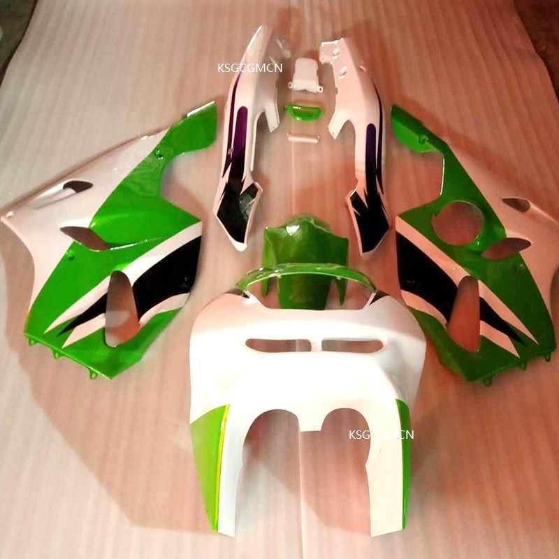 Hot Green white fit For KAWASAKI NINJA ZX6R 94-97 ZX 6R   ZX-6R 94 95 96 97 ZX-6R 1994 1995 1996 1997 Fairings set green