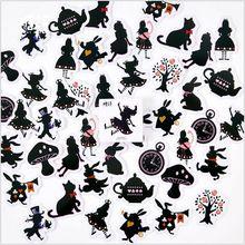 45Pcs/pack magic Alice dream fairy tale world Decorative Planner Sticker DIY Diary Scrapbooking Phone Index Seal Sticker