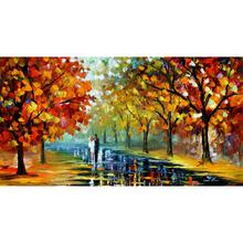 Contemporary art romantic moment knife oil painting canvas beautiful landscape pictures for wall decor