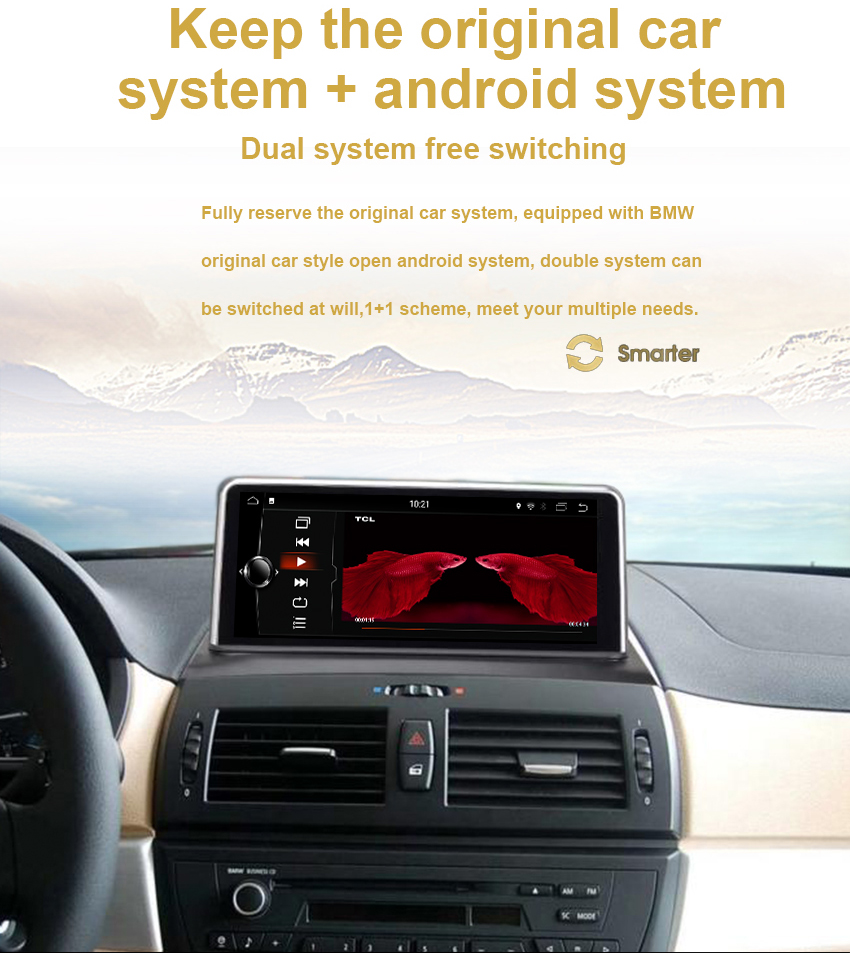 11 Koason 10.25 Inch IPS Touch Screen For BMW X3 E83 Android 7.1 System 2+32G RAM GPS Navi Multimedia Player MP5 Stereo WIFI BT AUX