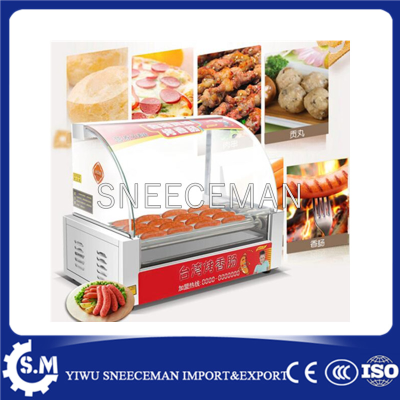 High Quality 5 Rollers Automatic Delicious Hot Dog Sausage Grill Roller Machine With Push Door сумка printio gta 5 dog