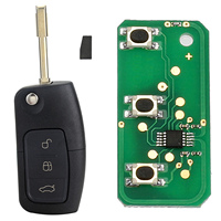 3 Button 433MHz 4D60 Chip Entry Fob Remote Car Key For FORD Mondeo Focus Fiesta New