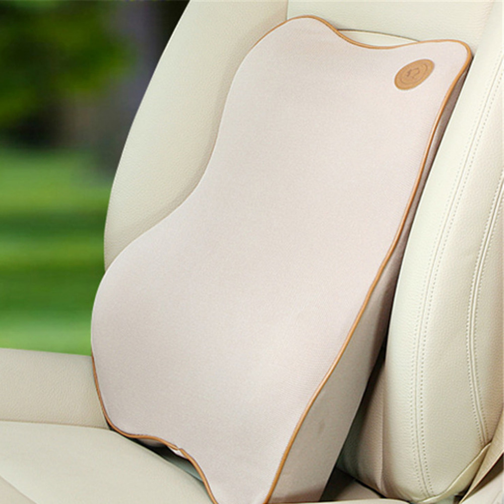 Car Seat Supports Memory Foam Lumbar Back Support Pillow Cushion ...