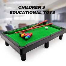 MINI Funny toy Flocking desktop simulation billiards Novelty Mini table sets childrens play sports balls Sports Toys