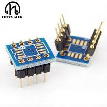 SOP8 Patch Einzel op amp umwandlung DIP8 dual Betriebs verstärker DIY Gold überzogene schweißen bord IC chip transformation bord