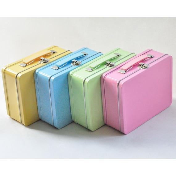 6pcs 19.5*15.3*7.3cm Candy Colours Portable Tin Box ...