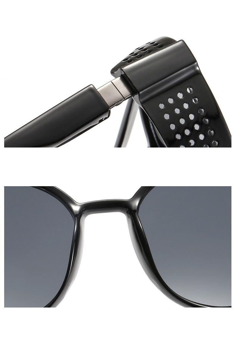 Men's sunglasses plastic + metal round frame glasses UV400 fashion ladies sunglasses classic brand driving night vision goggles (7)