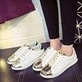 Mujeres Zapatos Casual Estudiante Blanco Modas Evita Deslizamiento