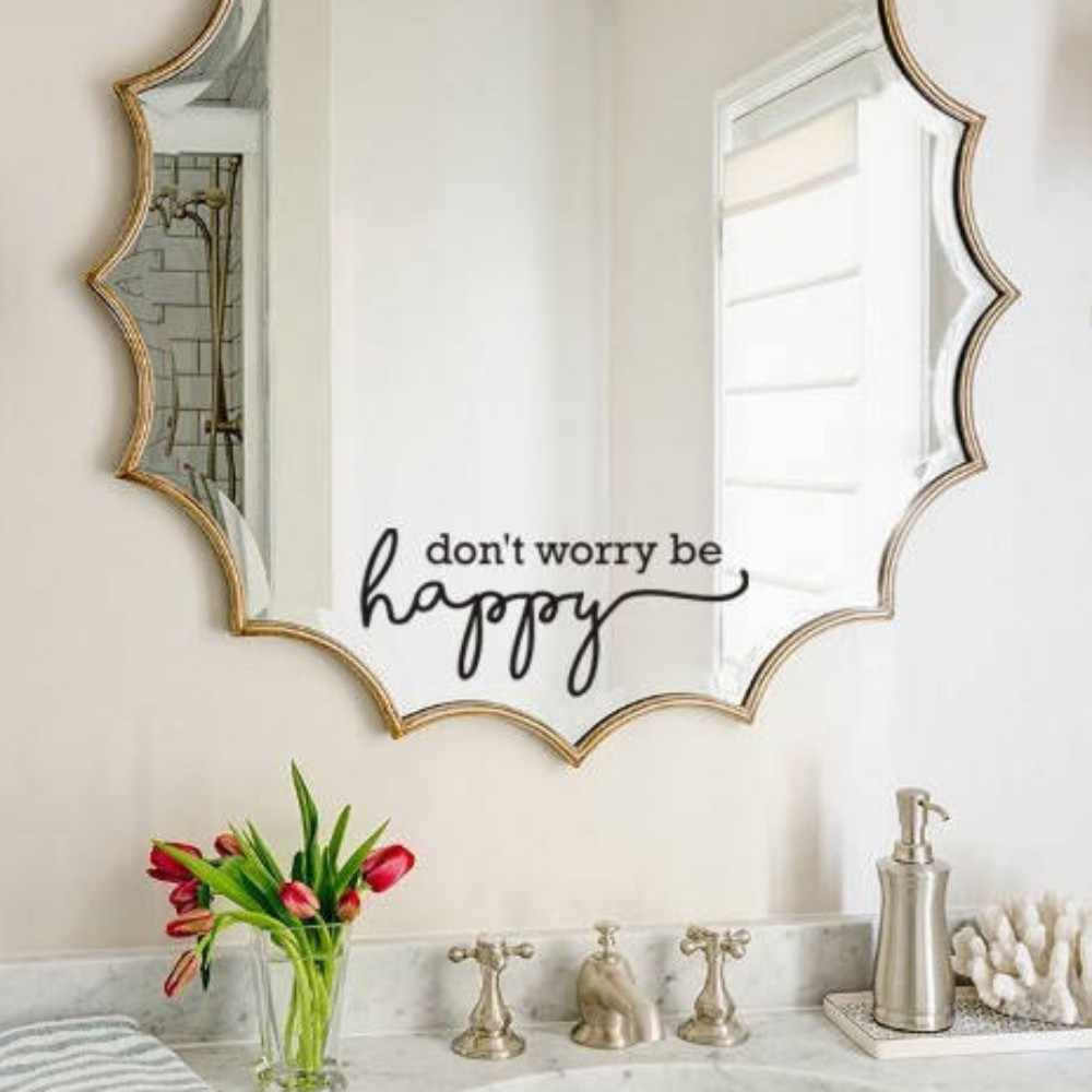 Yoyoyu free shipping inspirational mirror decal motivational wall sticker on mirror for home bathroom decor