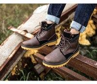 новинка 2017 года мужские ботинки теплые зимние сапоги повседневная обувь мужские ботинки модные кожаные сапоги с плюшевым мехом b135